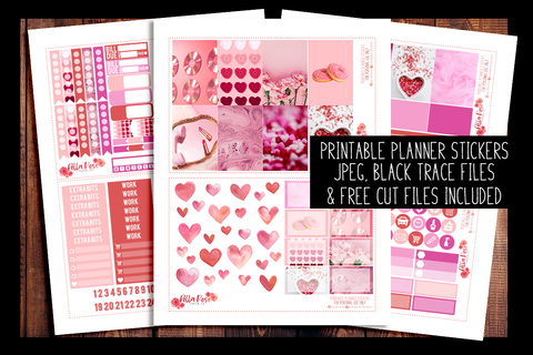 Valentine's Day Photo Happy Planner Kit | PRINTABLE PLANNER STICKERS