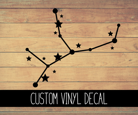 Virgo Zodiac Constellation Vinyl Decal