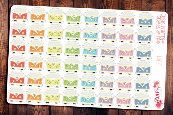 VW Bus Planner Stickers DI087