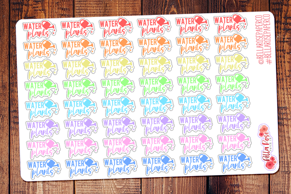Water The Plants Lettering Planner Stickers DI002