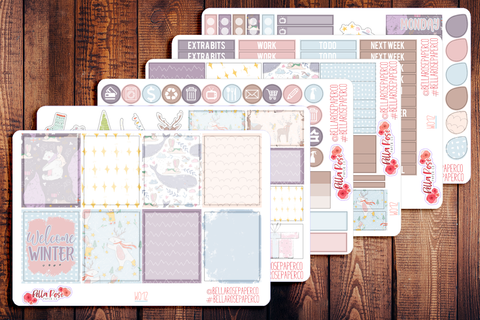 Welcome Winter Planner Sticker Kit W012