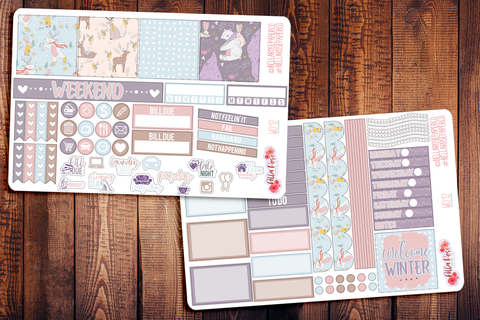 Welcome Winter Mini Happy Planner Sticker Kit W012