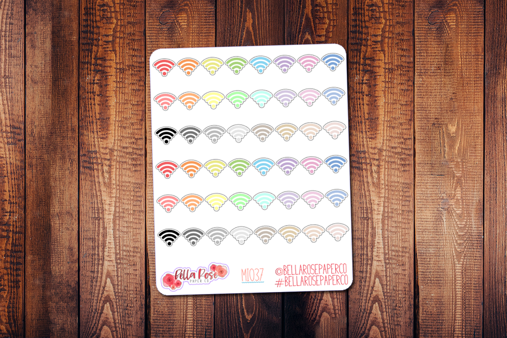 Wifi Mini Icon Planner Stickers MI037