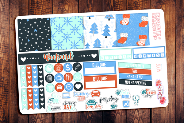Winter Wonderland Mini Happy Planner Sticker Kit W009