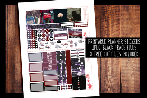 Witchy Vibes Mini Happy Planner Kit | PRINTABLE PLANNER STICKERS