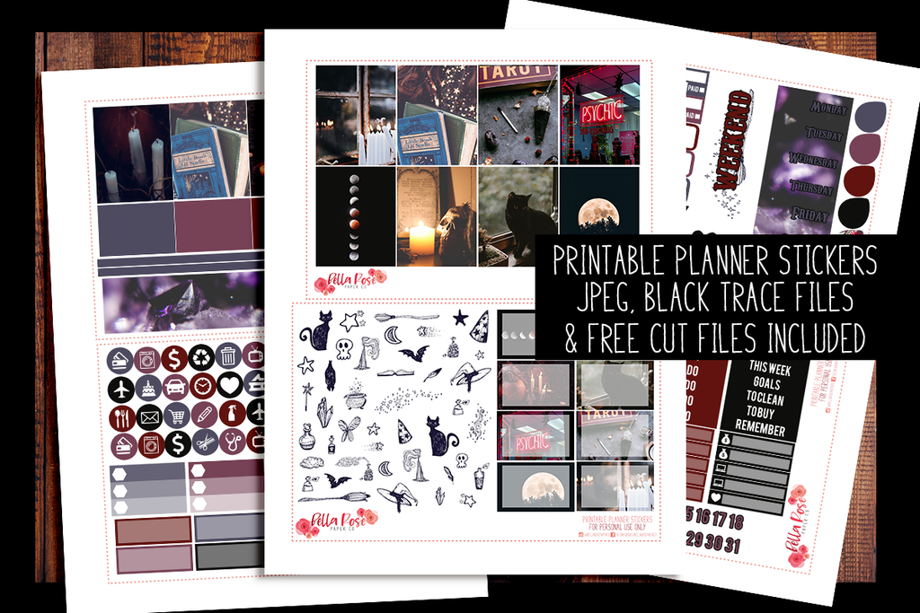 Witchy Vibes Planner Kit | PRINTABLE PLANNER STICKERS