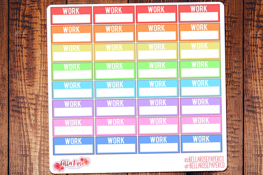Work Schedule Planner Stickers B015