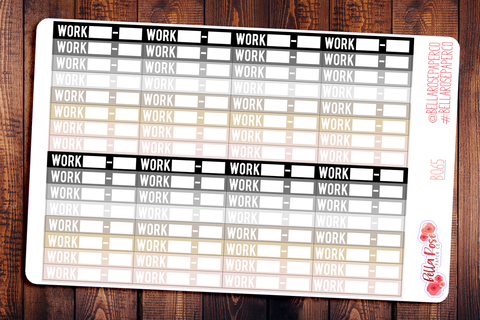 Work Label Neutral Planner Stickers B065