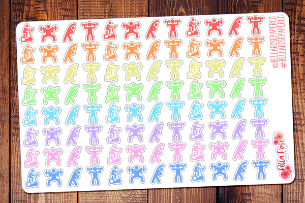 Workout/Exercise People Planner Stickers
