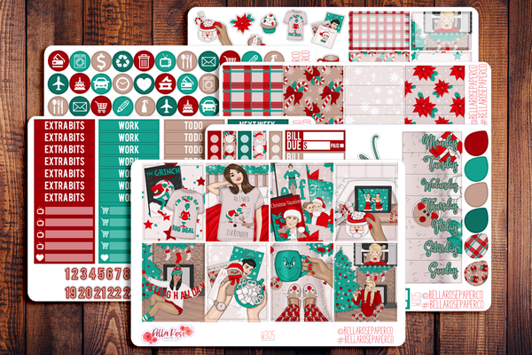 Christmas Eve Planner Sticker Kit W305