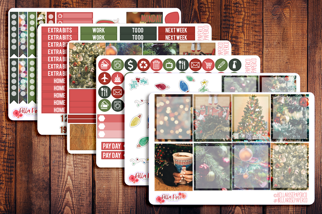 Christmas Photography Planner Sticker Kit W005