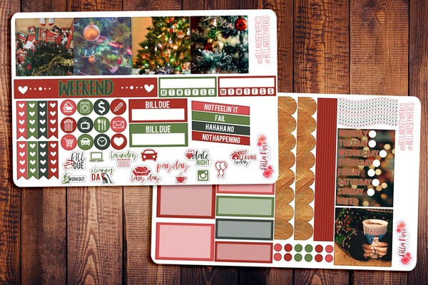 Christmas Photography Mini Happy Planner Sticker Kit W005