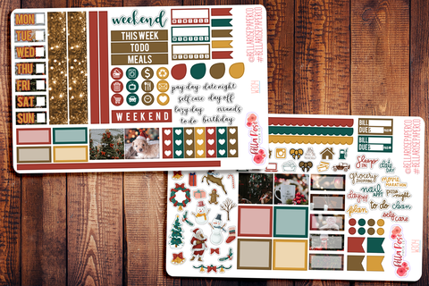 Christmas Photo Hobonichi Weeks Sticker Kit W304