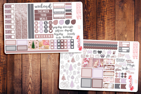 Pinkmas Hobonichi Weeks Sticker Kit W307
