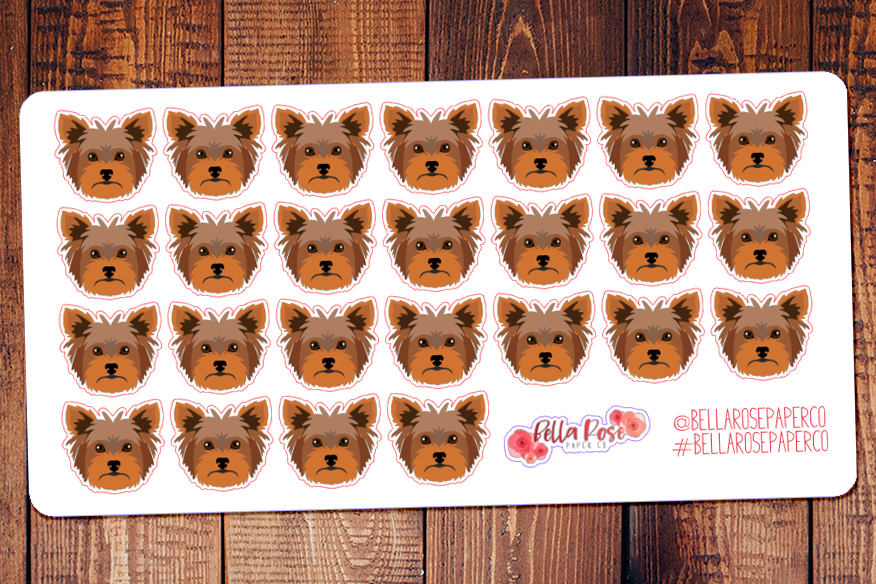 Yorkie Terrier Dog Planner Stickers