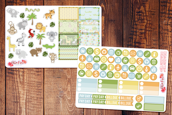 Zoo Day Planner Sticker Kit