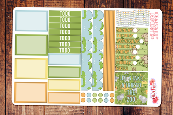 Zoo Day Mini Happy Planner Sticker Kit