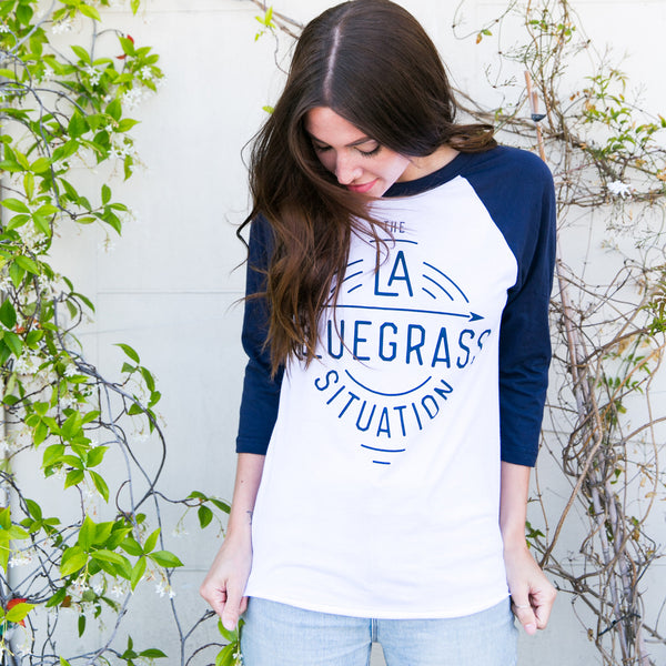 THE LA BLUEGRASS SITUATION FESTIVAL BASEBALL TEE