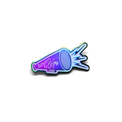 SHOUT & SHINE lapel pin