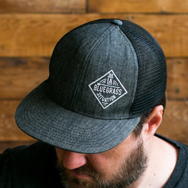 THE LA BLUEGRASS SITUATION MESH SNAPBACK HAT - GRAY/BLACK