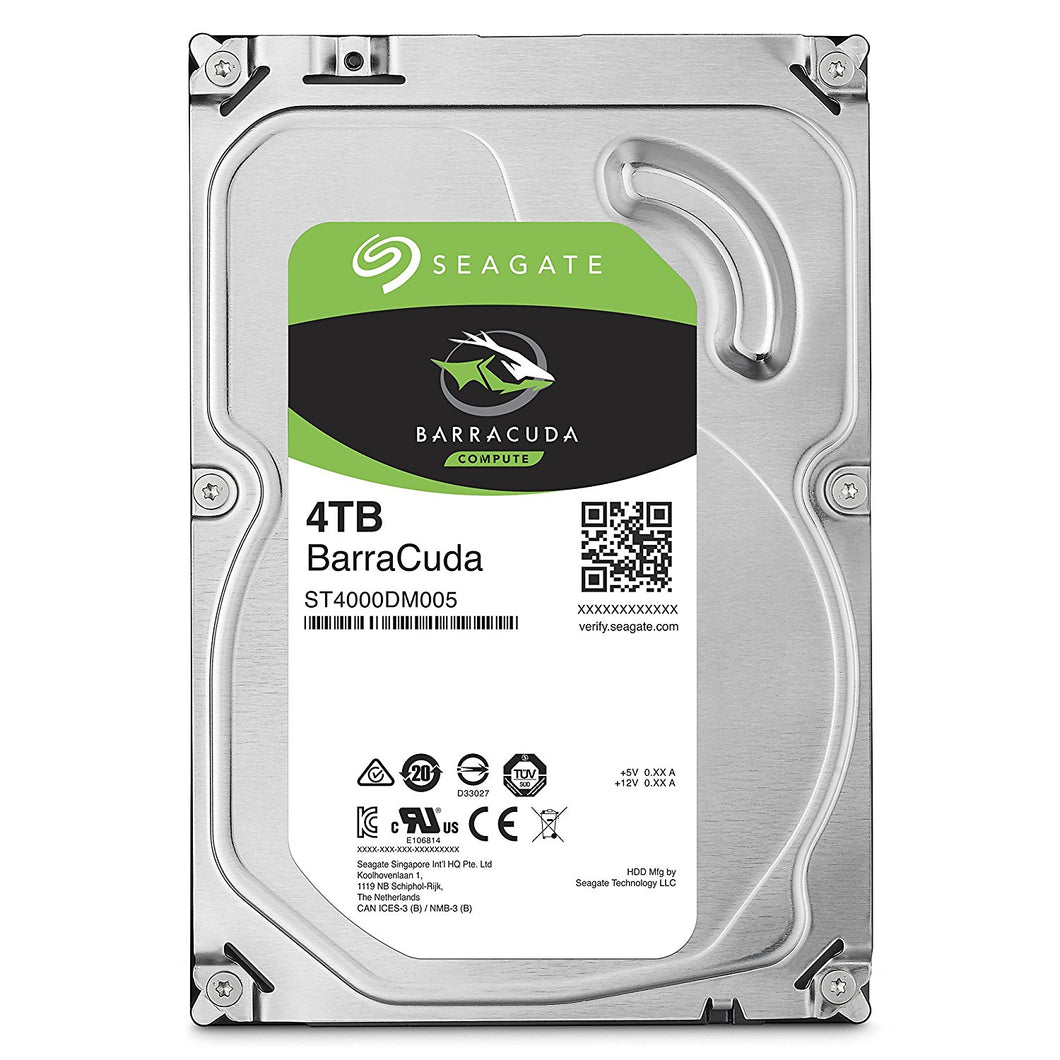 Seagate BarraCuda 4TB 3.5-Inch SATA III 6 Gb/s Internal Hard Drive