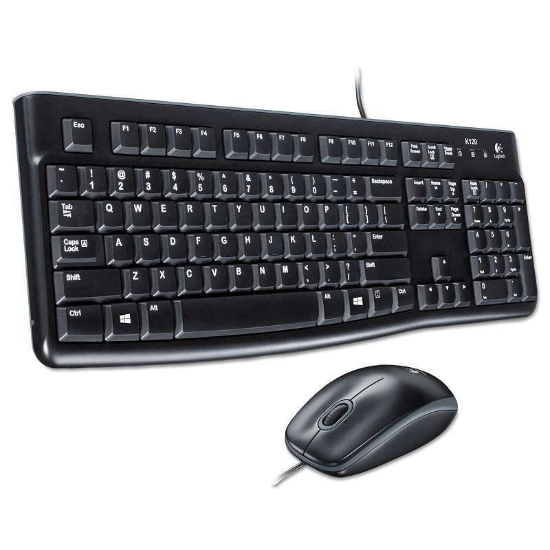 Logitech MK120 Wired Mouse & Keyboard Kit