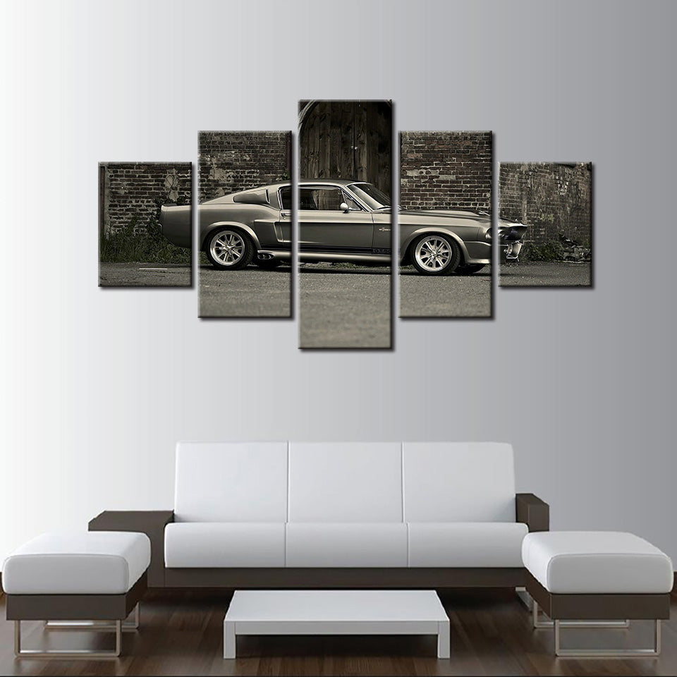 HD Ford Mustang Shelby GT500 Canvas Painting – TheHotrodderCorner