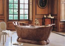 bronze designer tub