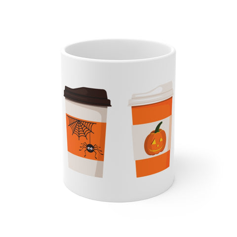coffee, mug, 80s, halloween, retro, nostalgia