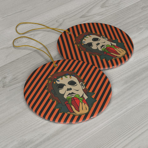 Halloween, christmas tree, skirt, holiday, michael myers, slasher, horror movies, ornament