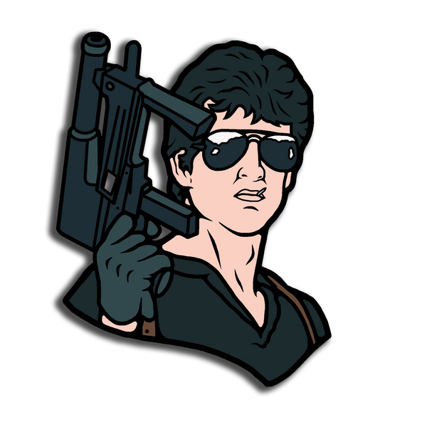 stallone, cobra, bad cop, enamel pin