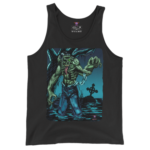 watery grave, tank top, scary basement media, chris kuchta, horror art