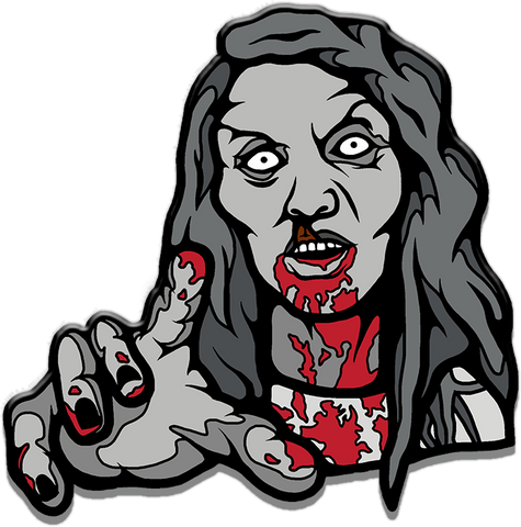 zombie, night if the living dead, enamel pin, horror pin, horror movies, scary