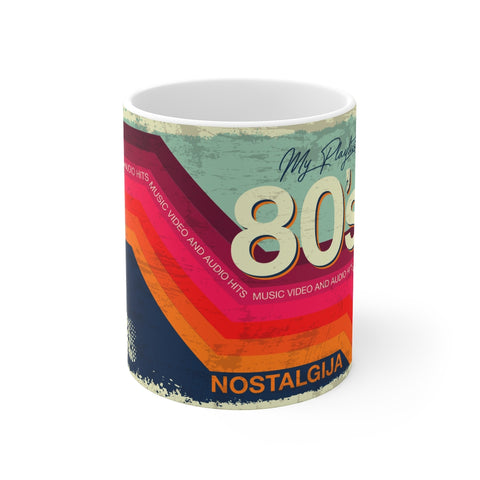coffee, mug, 80s, vhs, retro, nostalgia