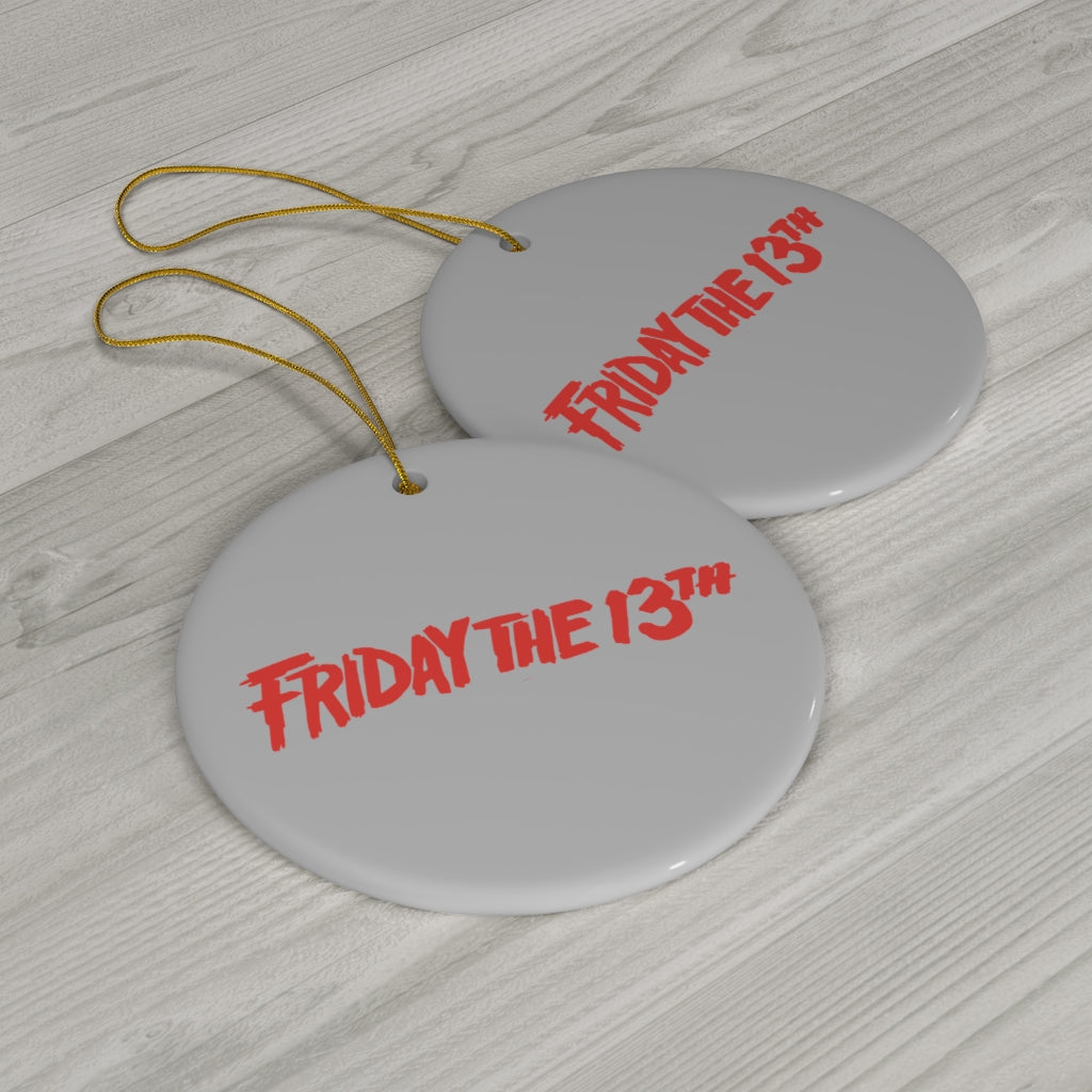 friday the 13th, jason voorhees, christmas, ornament, horror movies, scary basement media