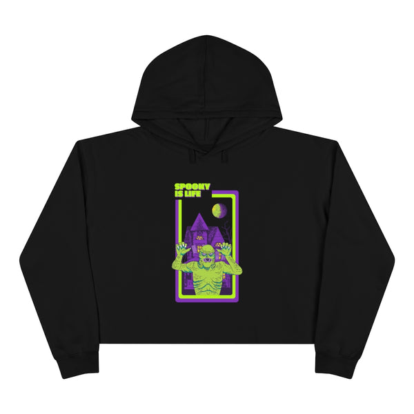 spooky, life, halloween, horror, crop hoodie, creature from the black lagoon, monster, horror movies, clothing, apparel