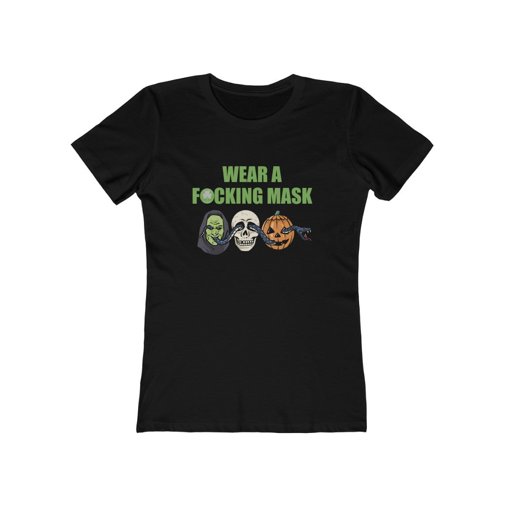 The Witching Season Wear A F*cking Mask Women's The Boyfriend Tee
