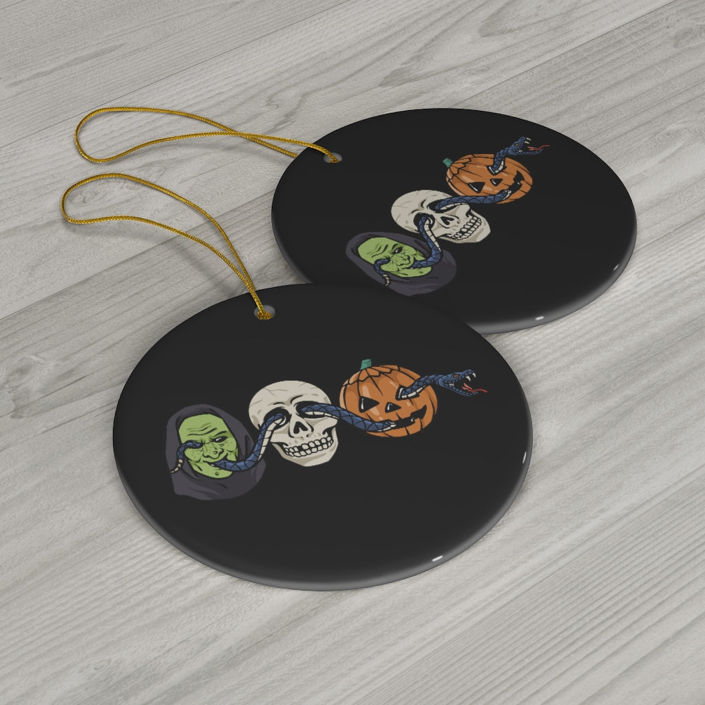 The Witching Season Ceramic Ornament