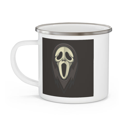 scream, ghostface, coffee mug, slasher, scary basement media