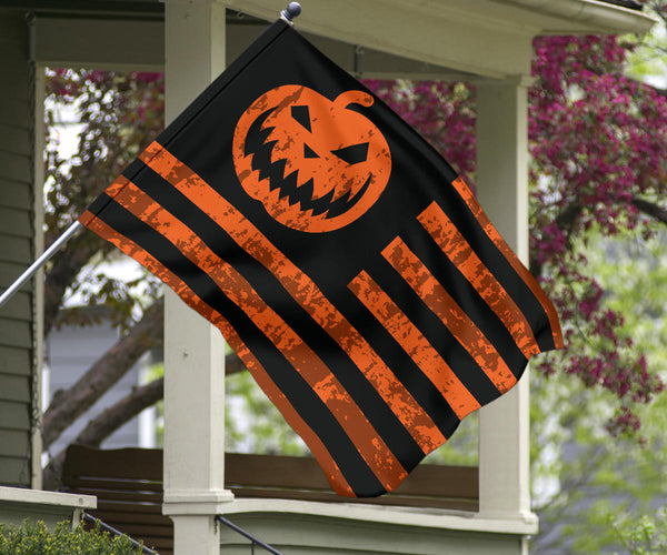 Halloween, flag, pumpkin, october, fall, outdoor, indoor, jack o lantern, decor