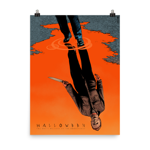 Halloween, movie, poster, print, michael myers