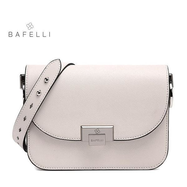 BAFELLI Messenger Bag - White / 8.5W x 6.5H x 2D - Messenger