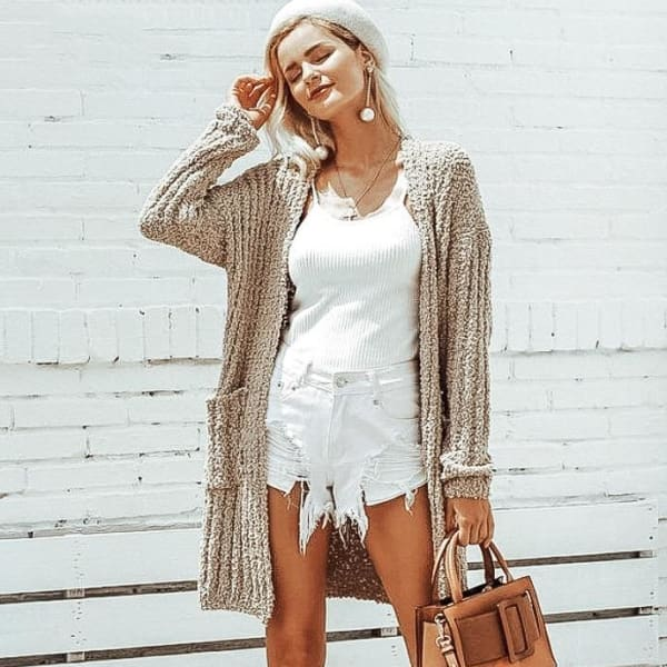 Long Casual Cardigan - Cardigan