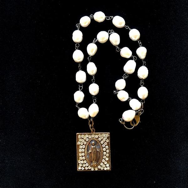 Jeweled Madonna Necklace - Necklace