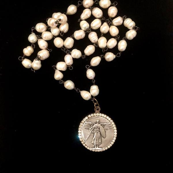 St. Michael Archangel Jeweled Necklace - Necklace