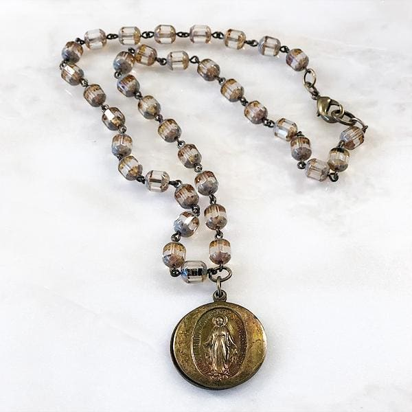 Madonna Prayer Locket Necklace - Necklace