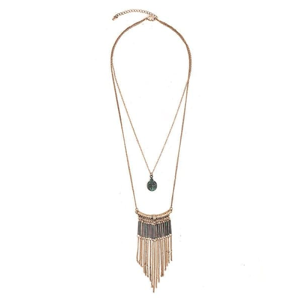 Boho Tassel Pendant Necklace - Necklace