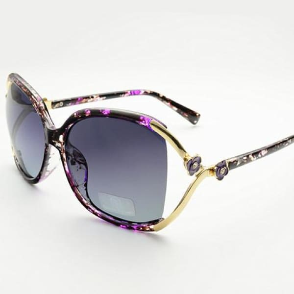 Vintage Flower Sunglasses - Purple - Sunglasses
