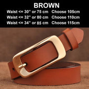 SAN VITALE Vintage Leather Womens Belt - N17063Brown / China / 39.25 - Belt