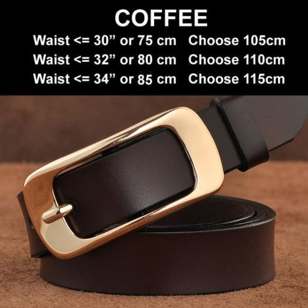 SAN VITALE Vintage Leather Womens Belt - N17063Coffee / China / 39.25 - Belt